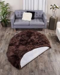 5x8 area rugs cocoa brown oval sheepskin fur rug 5x8 fursource com