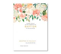 Invitation Card For Christening Free Download Free Floral Baptism Invitation Template Dolanpedia Invitations Ideas