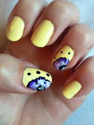33 best yellow nail art designs images on pinterest yellow nail