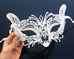 white masquerade masks for women white cat mask etsy