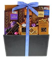 wine and chocolate gift basket wine godiva thank you chocolate gift basket