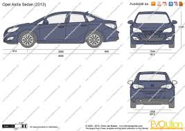 opel astra sedan the blueprints com vector drawing opel astra j sedan