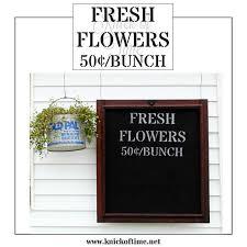 fresh flowers farmhouse stencil diy home decor signs