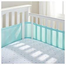 amazon com breathablebaby breathable mesh crib liner aqua 1
