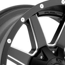 matte black fuel maverick 1pc wheels matte black with milled accents rims