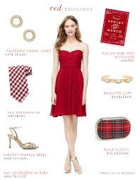 apple red bridesmaid dress for fall and winter weddings