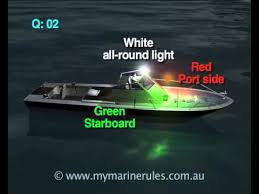 boat lights at night rules night navigation rules youtube