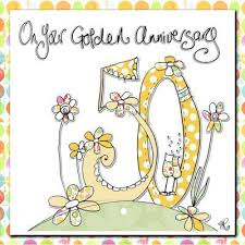 50th wedding anniversary greetings finished 50th wedding anniversary card karenza paperie