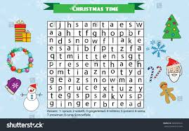 word search puzzle kids activity sheet stock vector 500950324