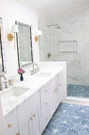 blue starburst cement bathroom floor tiles transitional bathroom