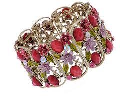 crystal rhinestone cuff bracelet images Alilang antique floral pink crystal rhinestone cherry jpg