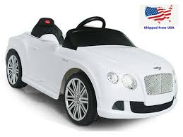 bentley 2017 white kids sport edition 12v maserati style ride on car with parental