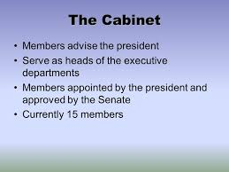 The Cabinet Members With Liberty And Justice The Federal Government Ppt Download