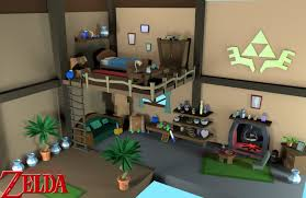Legend Of Zelda Bedroom 3d Zelda Room By Mexican64 On Deviantart