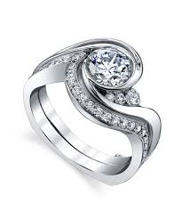 Engagement Ring With Wedding Band by Splendid Contemporary Engagement Ring Mark Schneider Design