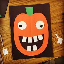 pumpkin face collage face collage kindergarten and kinder science
