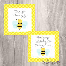 bumble bee printable favor tags instant download bee baby shower