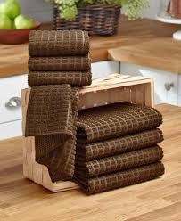 kitchen linens set dish drying mat set microfiber brown red taupe