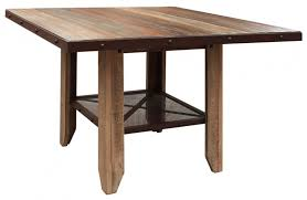 solid wood counter height table sets bradley s furniture etc utah rustic furniture and mattresses