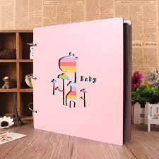 personalized record album 16inch diy wood paste type big size personalized photo albums baby