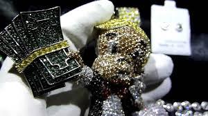 custom necklace charms custom lab made diamond richie rich pendant cluster chain bracelet