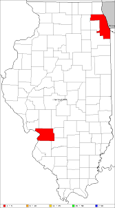 Illinois County Map My Illinois County Finds