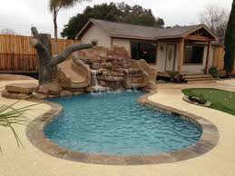 Small Backyard With Pool Landscaping Ideas by Residential Lazy River Pool Designs Pool Design Ideas