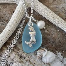 pearl charm necklace images Beautiful sterling silver pearl charm and seaglass charm jpg