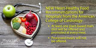 american college of cardiology urges hospitals to add plant based