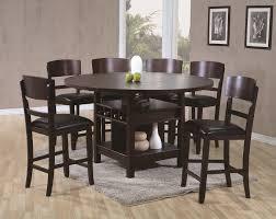 espresso dining room sets conner espresso 7 piece pub table set andrew u0027s furniture and
