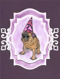 pug birthday card createncraft