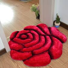Bathroom Carpets Rugs 3d Printed Solid Flower Shape Bathroom Carpet Rugs 70 70cm Door