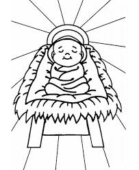 jesus in the manger coloring page autumn leaf outline free download clip art free clip art on