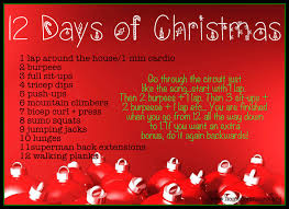 12 days of christmas workout via homefieldfitness org the best