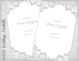 Wedding Ceremony Program Template Word Catholic Wedding Program Template Silver Gray Antique