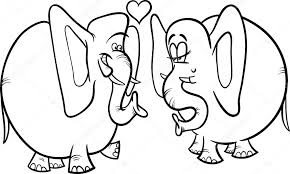 elephant love coloring page elephants in love coloring page stock vector izakowski 37998747