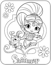 coloring pages shimmer and shine