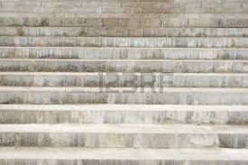 concrete stairway focus on the bottom steps stock photo