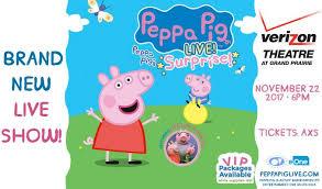 peppa pig live verizon theatre grand prarie