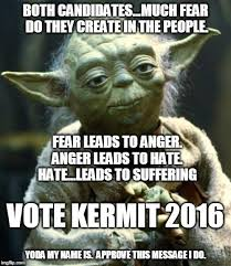 Peace Memes - the wisdom of yoda a little late the friars club