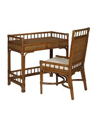 Writing Desk With Chair Cottage Wicker Rattan Writing Desk Cottage Home