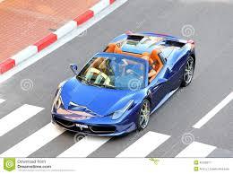 Ferrari 458 Blue - ferrari 458 italia spider editorial photo image 45226871