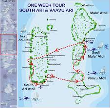 Map Of Maldives Maldives Liveaboards Diving Dive Sites Ari Atoll Maldives