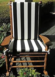 amazon com indoor outdoor black u0026 white stripe print rocking
