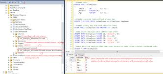sql server create table primary key sql server create clustered indexes without primary key and non