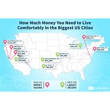 El Paso Texas Map Here U0027s How Much Money You Need To Make To Live Comfortably In