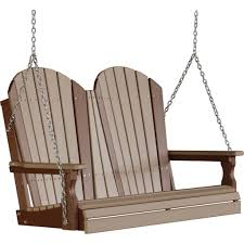 Luxcraft Fine Outdoor Furniture by Luxcraft Adirondack 4ft Recycled Plastic Porch Swing Porches