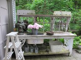 Outdoor Potting Bench With Sink Bench Small Potting Bench Best Potting Benches Ideas Station