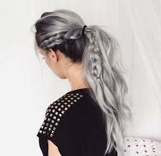 white hair with black lowlights 28 trendy grey hair color ideas to rock styleoholic