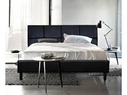 king size pu leather bed frame helsinki collection black bed